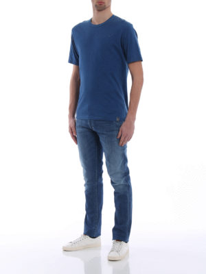 Jacob Cohen: t-shirts online - Embroidered logo cotton T-shirt