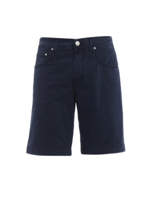 Jacob Cohen: Trousers Shorts - Blue cotton short pants