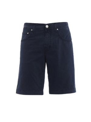 Jacob Cohen: Trousers Shorts - Blue cotton short pants