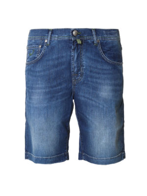 Jacob Cohen: Trousers Shorts - Faded denim shorts
