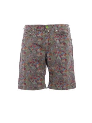 Jacob Cohen: Trousers Shorts - Floral print cotton shorts