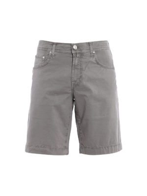 Jacob Cohen: Trousers Shorts - Grey cotton short pants