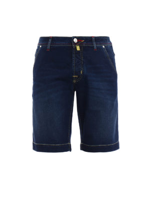 Jacob Cohen: Trousers Shorts - Natural indigo dyed denim shorts