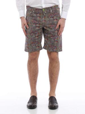 Jacob Cohen: Trousers Shorts online - Floral print cotton shorts