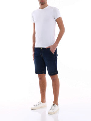 Jacob Cohen: Trousers Shorts online - Natural indigo dyed denim shorts