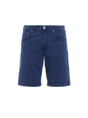 JACOB COHEN: Trousers Shorts - Style6636 blue cotton short pants