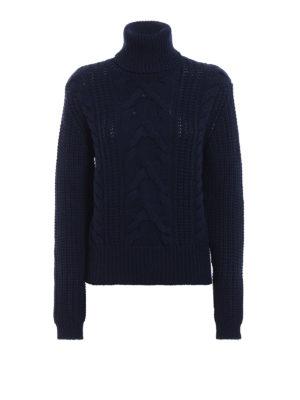 JACOB COHEN: maglia a collo alto e polo - Dolcevita caldo e morbido in lana intrecciata