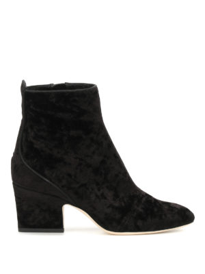 Jimmy Choo: ankle boots - Autumn 65 velvet ankle boots