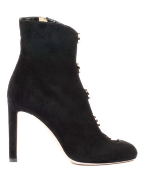 Jimmy Choo: ankle boots - Loretta 100 studded suede booties