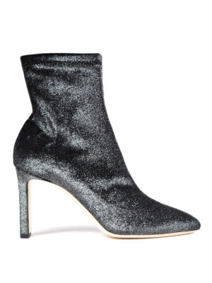 Jimmy Choo: ankle boots - Louella stretch velvet ankle boots