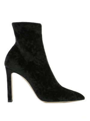 Jimmy Choo: ankle boots - Louella stretch velvet booties