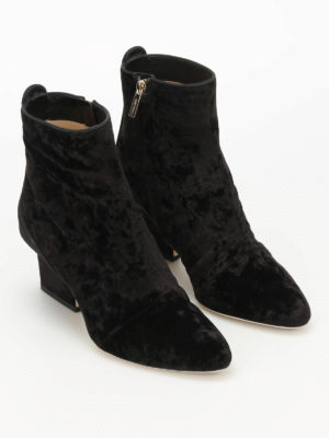 Jimmy Choo: ankle boots online - Autumn 65 velvet ankle boots