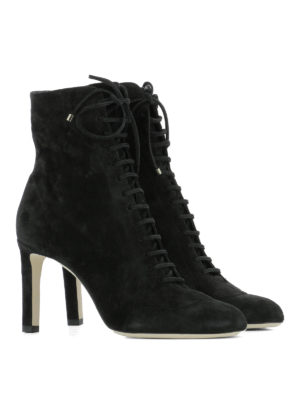 Jimmy Choo: ankle boots online - Daize lace-up suede booties