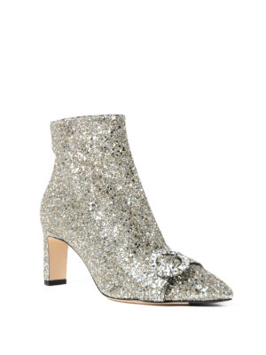 Jimmy Choo: ankle boots online - Hanover 65 shadow glitter booties