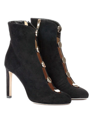 Jimmy Choo: ankle boots online - Loretta 100 studded suede booties