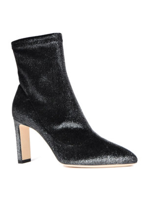 Jimmy Choo: ankle boots online - Louella stretch velvet ankle boots