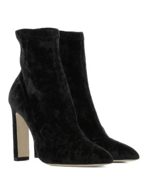 Jimmy Choo: ankle boots online - Louella stretch velvet booties