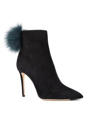 Jimmy Choo: ankle boots online - Tesler fur pom pom booties