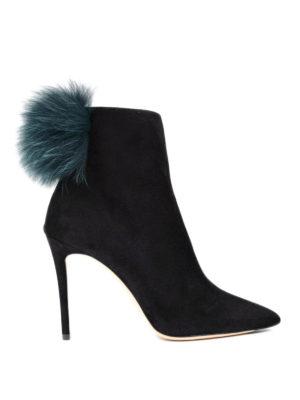 Jimmy Choo: ankle boots - Tesler fur pom pom booties