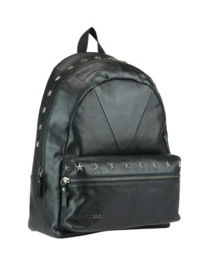 Jimmy Choo: backpacks online - Reed leather backpack with stars