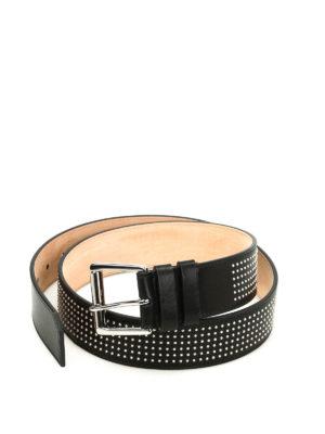 Jimmy Choo: belts - Archer micro stud leather belt