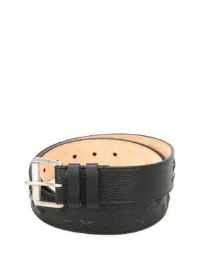 Jimmy Choo: belts - Archer star embossed leather belt