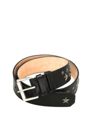 Jimmy Choo: belts - Archer star studded leather belt