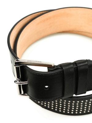 Jimmy Choo: belts online - Archer micro stud leather belt