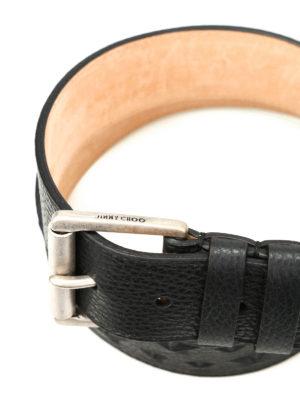 Jimmy Choo: belts online - Archer star embossed leather belt