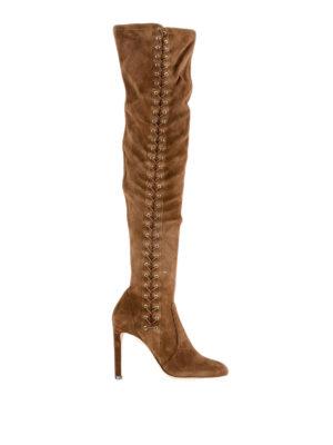 JIMMY CHOO: stivali - Stivali in camoscio Marie 100