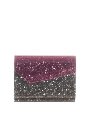 Jimmy Choo: clutches - Candy glittered clutch