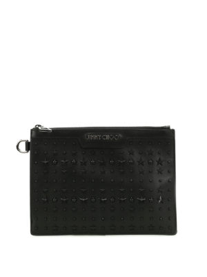 Jimmy Choo: clutches - Derek mini patch stars napa clutch