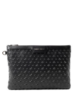 Jimmy Choo: clutches - Derek star patch clutch