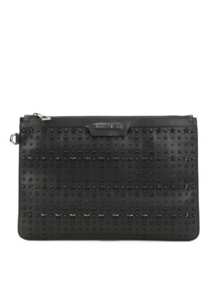 Jimmy Choo: clutches - Derek stars leather clutch