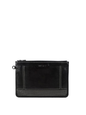 Jimmy Choo: clutches - Derek studded leather pouch