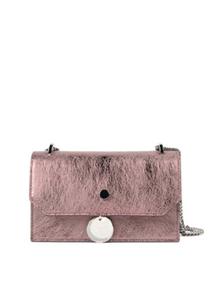 Jimmy Choo: clutches - Finley vintage effect leather bag