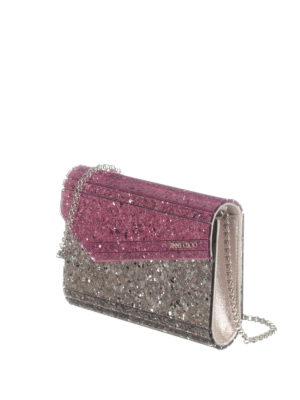 Jimmy Choo: clutches online - Candy glittered clutch