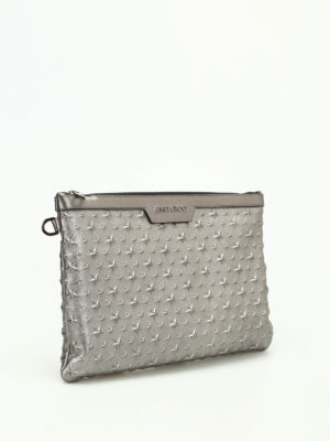 Jimmy Choo: clutches online - Derek embossed stars napa clutch