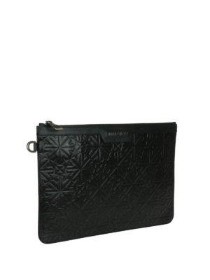 Jimmy Choo: clutches online - Derek leather clutch