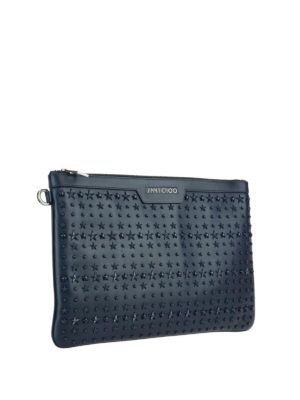 Jimmy Choo: clutches online - Derek leather clutch with stars
