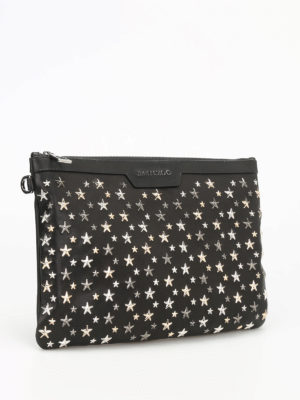 Jimmy Choo: clutches online - Derek metal stars leather clutch
