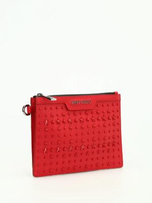 Jimmy Choo: clutches online - Derek mini patch stars napa clutch