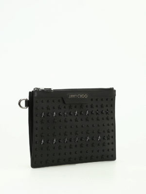 Jimmy Choo: clutches online - Derek mini patch stars napa clutch
