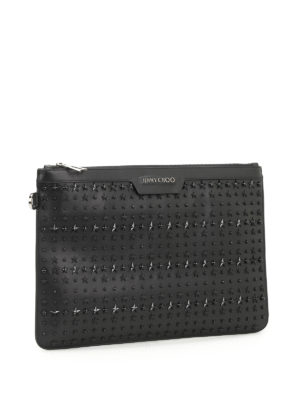 Jimmy Choo: clutches online - Derek stars leather clutch