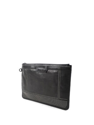 Jimmy Choo: clutches online - Derek studded leather pouch