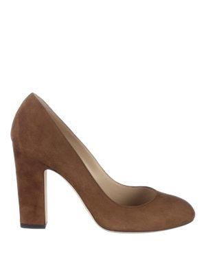 Jimmy Choo: court shoes - Billie 100 suede pumps