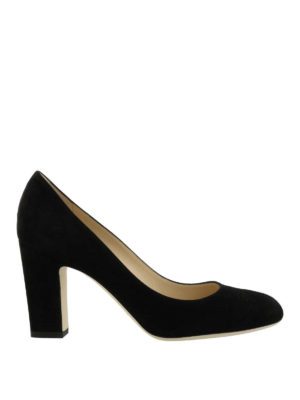 Jimmy Choo: court shoes - Billie 85 black suede pumps