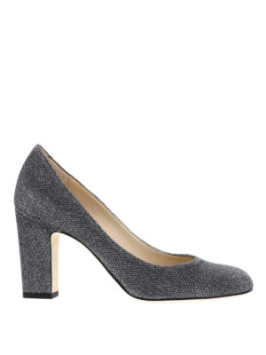 Jimmy Choo: court shoes - Billie lamé glitter pumps
