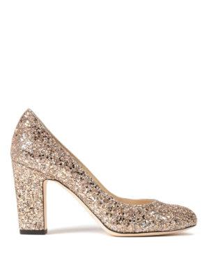 Jimmy Choo: court shoes - Billie shadow glittery pumps