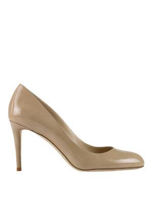 Jimmy Choo: court shoes - Bridget nude patent pumps